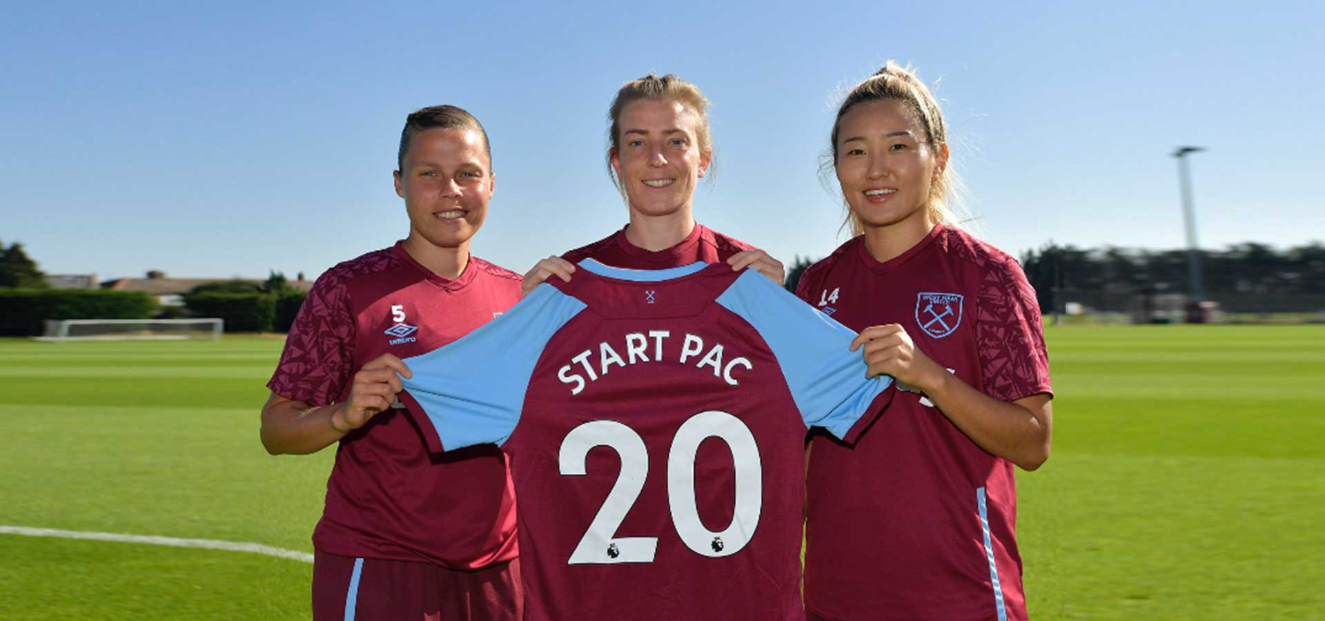 START PAC westham united womens football club sponsorship
